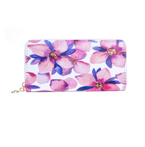 Pink Flowers Wallet