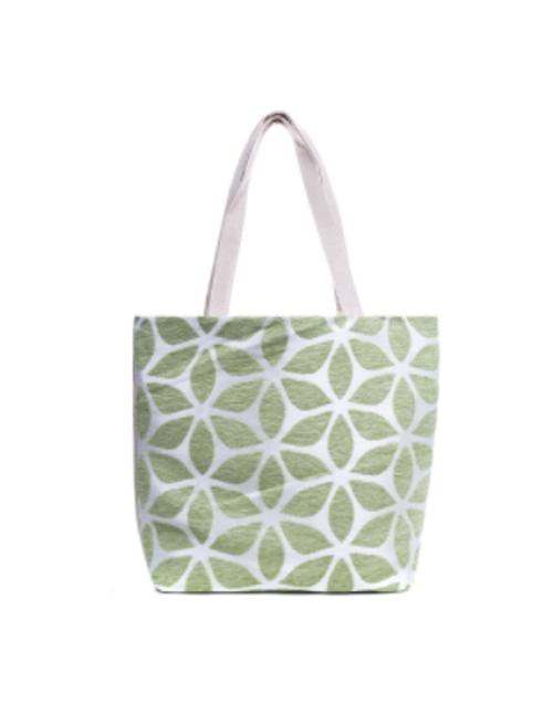 Sage Flower Design Beach bag