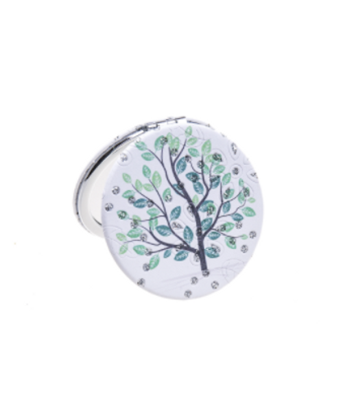 Tree and Crystals Compact Mirror
