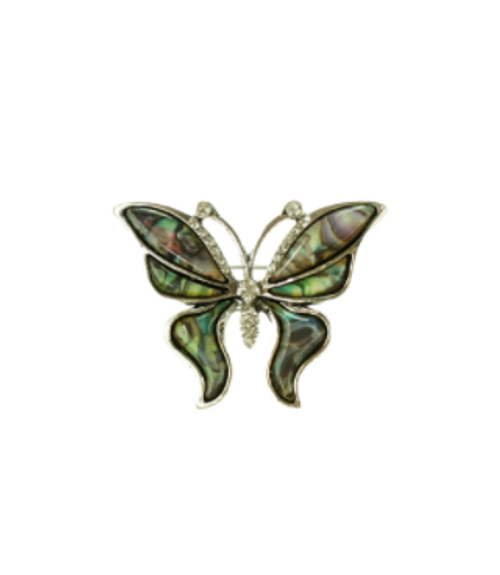Green Butterfly Brooch