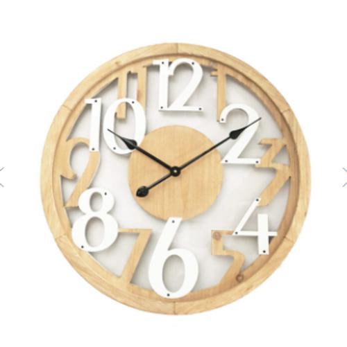 Hamptons Floating Wall Clock 60cm