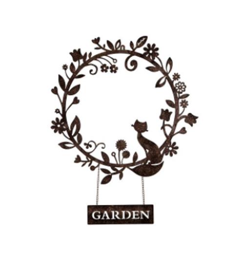 Lasercut Cat Garden Wreath