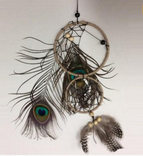 Peacock Feather Dreamcatcher