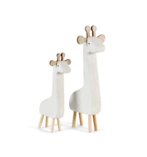 White Wooden Giraffe Ornament