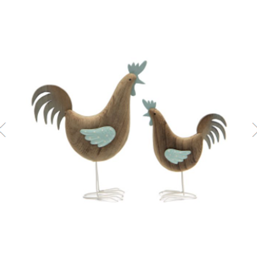 Wooden Rooster Ornament