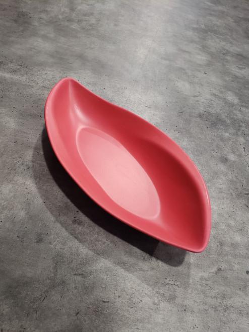Bamboo Leaf Platter 30cm/ Red