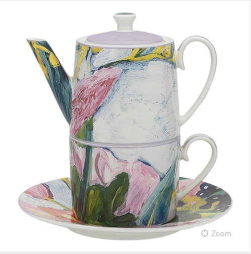 Abstract Floral Tea for One