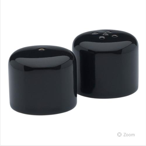 Black Midnight Salt & Pepper Shakers