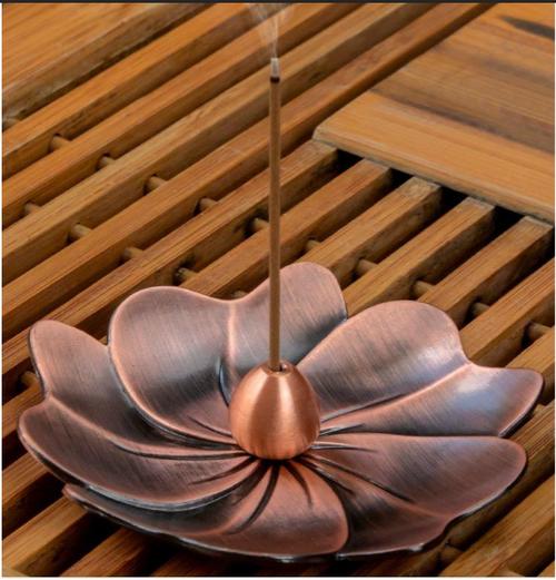 Rose Gold Flower Incense Holder