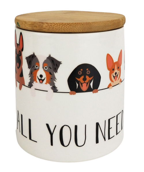 All You Need is Dogs Canister