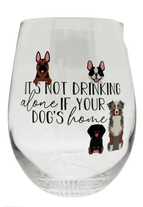 Dog's Home Stemless Wine Glass