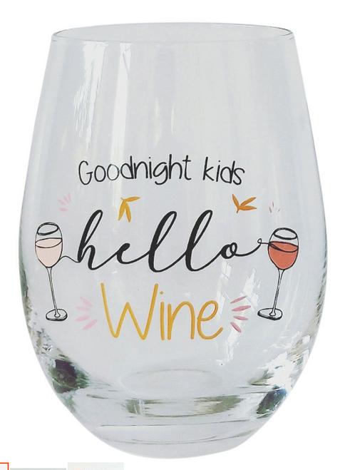 Goodnight Kids stemless Wine glass