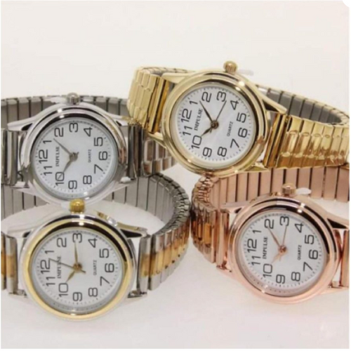 Metallic Stretch watch
