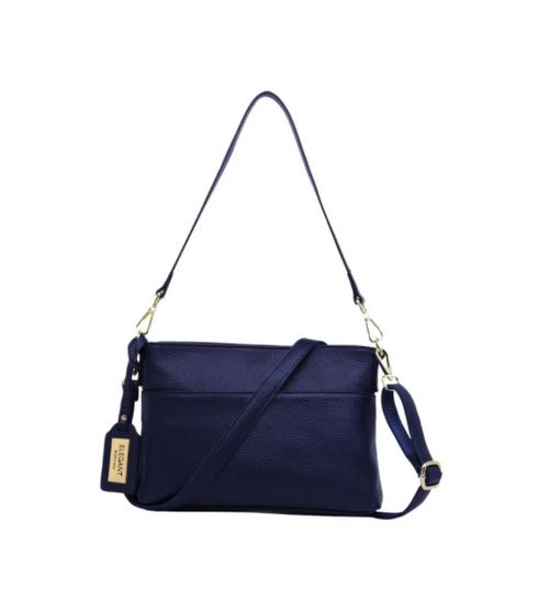 Violet Leather Crossbody Bag