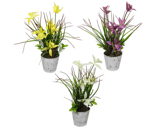 Assorted Potted Artificial Orchids