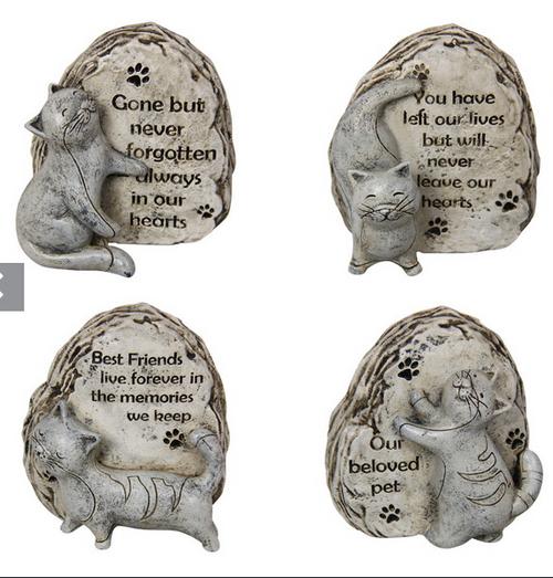 Cat Gravestone Ornament