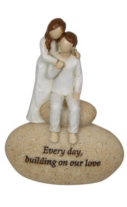 Couple on Stone Ornament