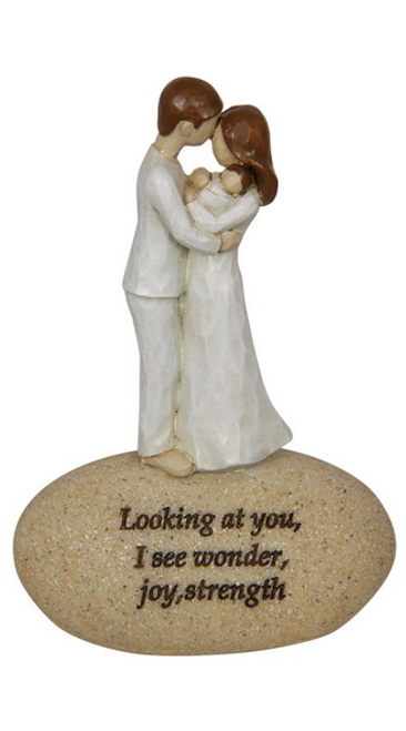 New born/ Couple on Stone