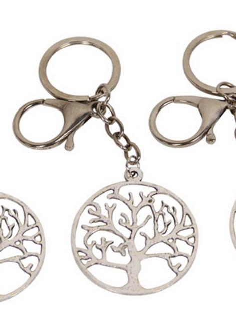 Silver Tree of Life Keyring