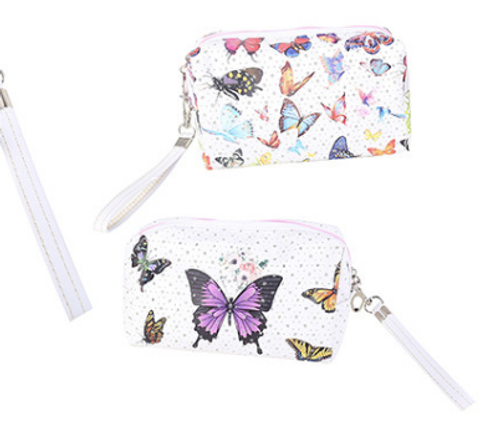 Colourful Butterflies Cosmetic Bag
