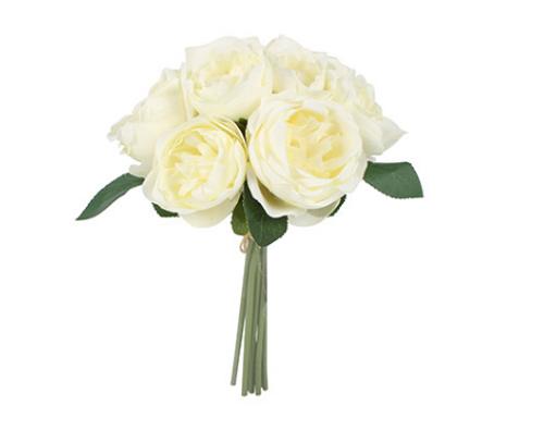 White Peony Rose Bunch