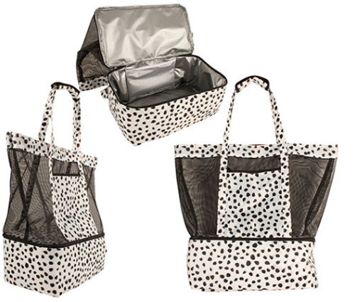 2 in 1 Spotted Beach Cooler Bag