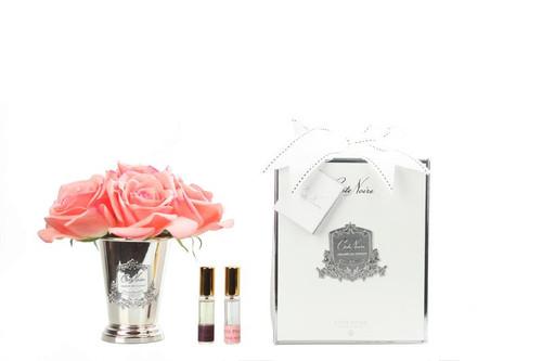 Seven Rose Bouquet - White Peach