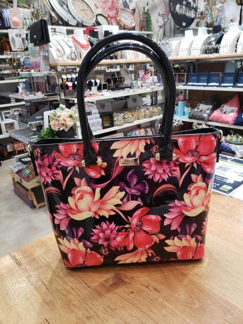 Cynthia Patent Leather Handbag