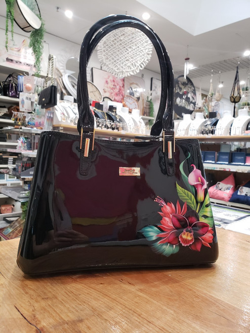 Tanya Patent Leather Handbag