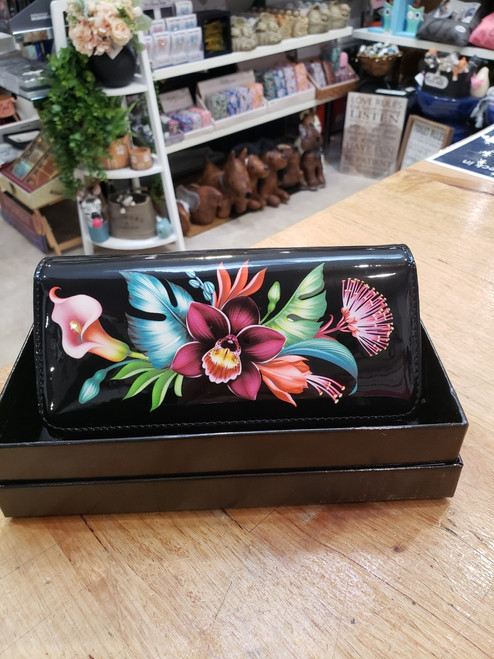 Tanya Patent Leather Large Wallet