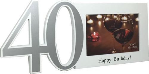40th Cut Out Photo Frame