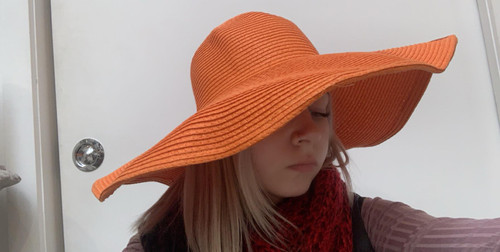 Orange Fashion Hat