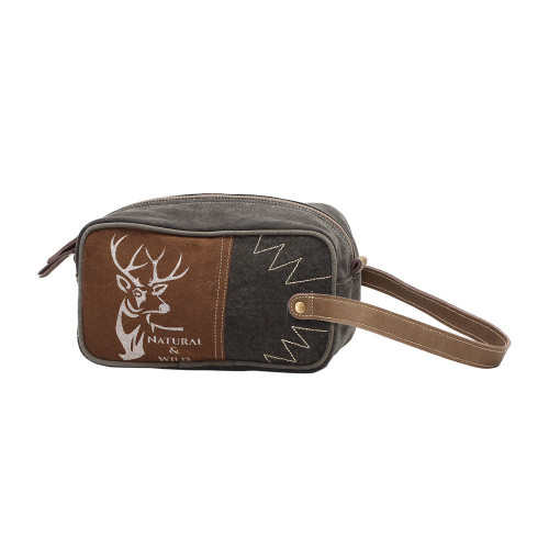 Wild Reindeer Canvas Toiletries Bag