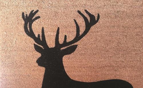 Black Deer Doormat 50x80cm