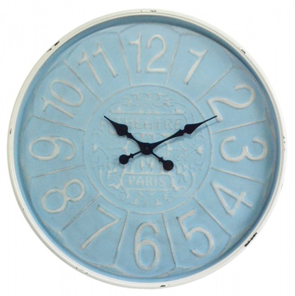 Blue Face 73cm Clock