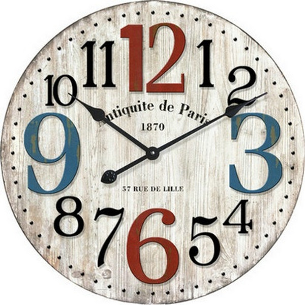Colourful Paris Wall Clock 28cm