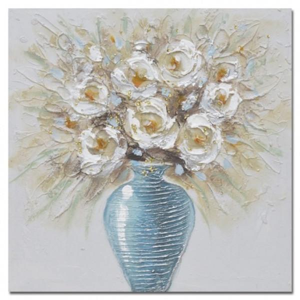 Bouquet in Vase Canvas 50x50cm