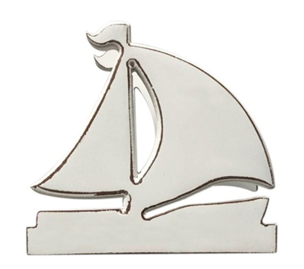 White Sailboat Napkin Stand
