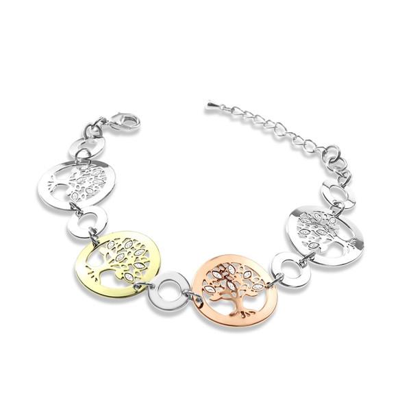 3-Tone Tree of Life Bracelet