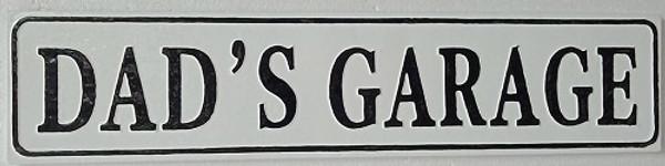 Dad's Garage Wall Sign