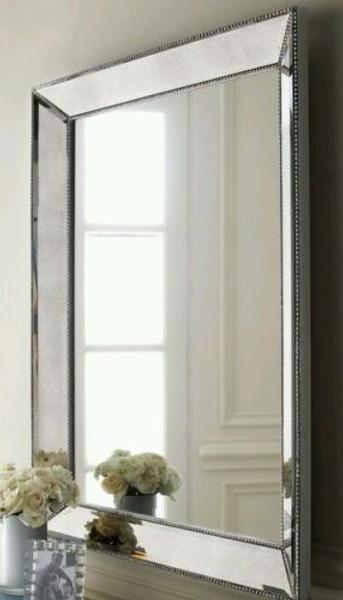 Beaded Silver Mirror