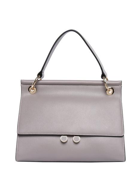 Alana Smooth Leather Handbag / Stone