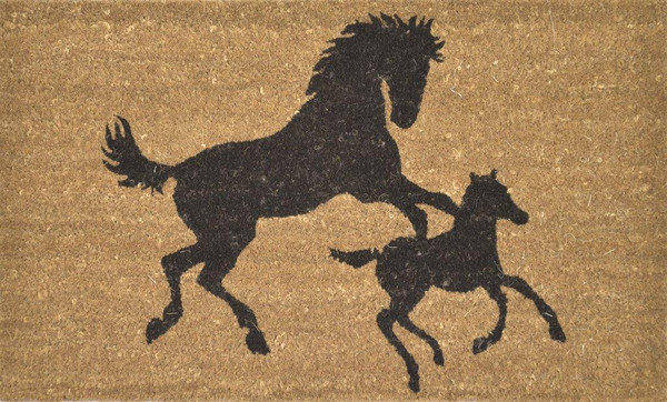Horse and Foal Doormat 45x75cm