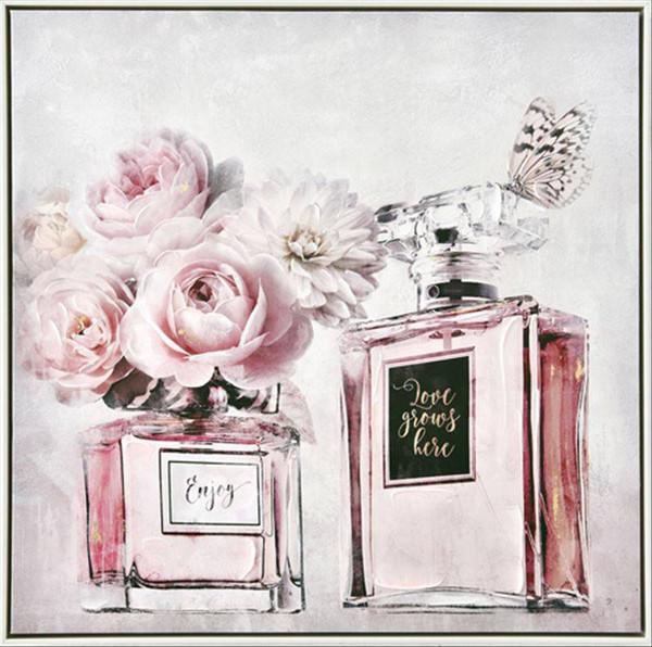 Perfume Bottles Canvas 80x80cm