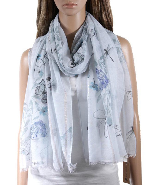 Butterflies and Dragonflies Scarf
