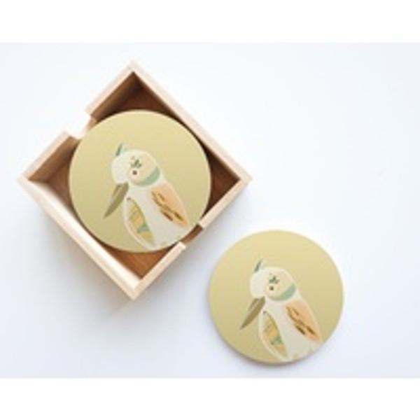 Kookaburra Ceramic Coaster Set