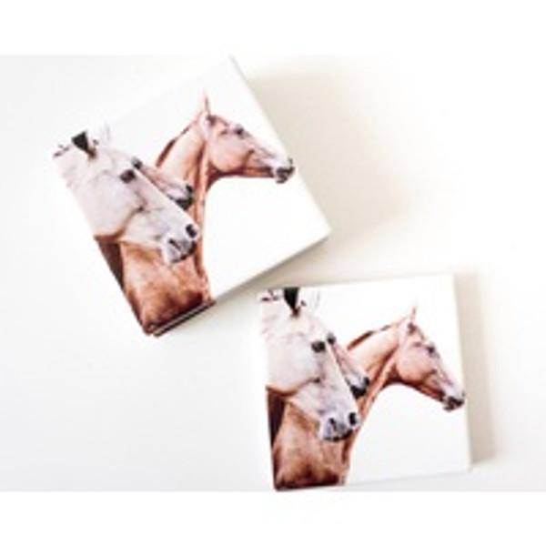 Galloping Horses Ceramic Coaster Set