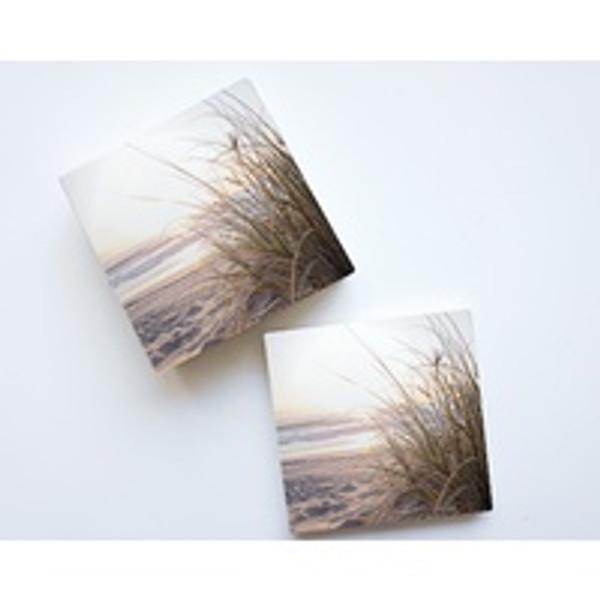 Beach Seagrass Ceramic Coaster Set