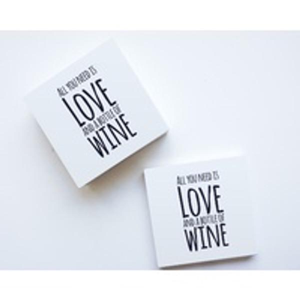 For The Love Of Wine Ceramic Coaster Set