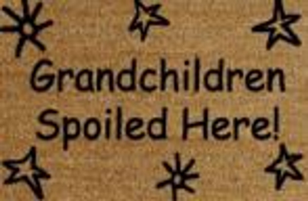 Grandchildren Spoiled Here Stars Doormat